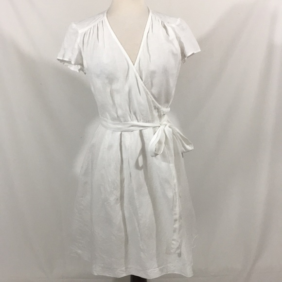 532b002423 Boden Dresses   Skirts - Boden 100% Linen Wrap Dress Sz 10R White